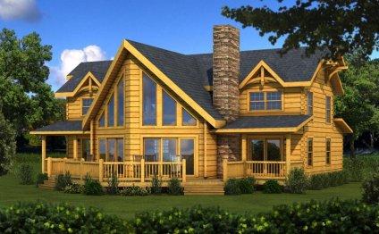 деревянные дома из