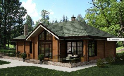 Проект деревянного дома из