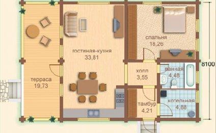 Планировка домов из бруса с