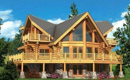 Шестиугольный дом из дерева: