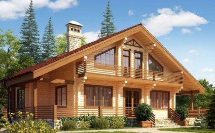 При строительстве домов из